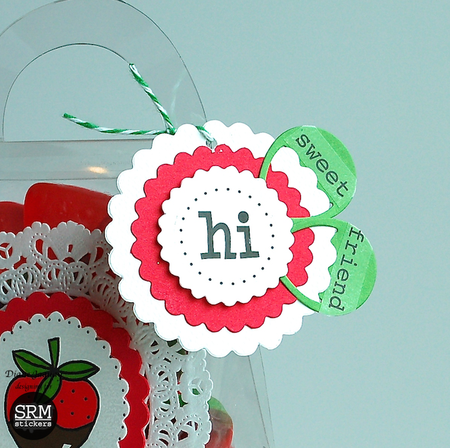 SRM Stickers Blog - Hi Sweet Friend by Diane - #purse #doily #gift #punched pieces #twine #stickers