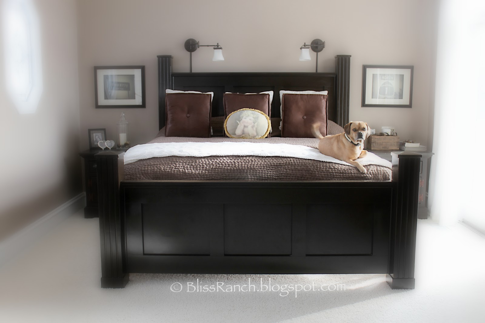 Custom Made Bed Bliss Ranch.com #5C4D46