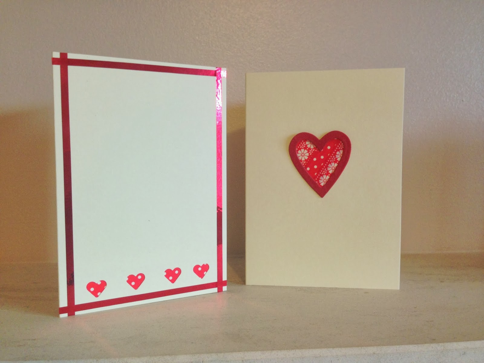 washi tape valentines card ideas