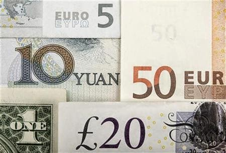 Chinese Yuan, US Dollar, Euro, British Pound,