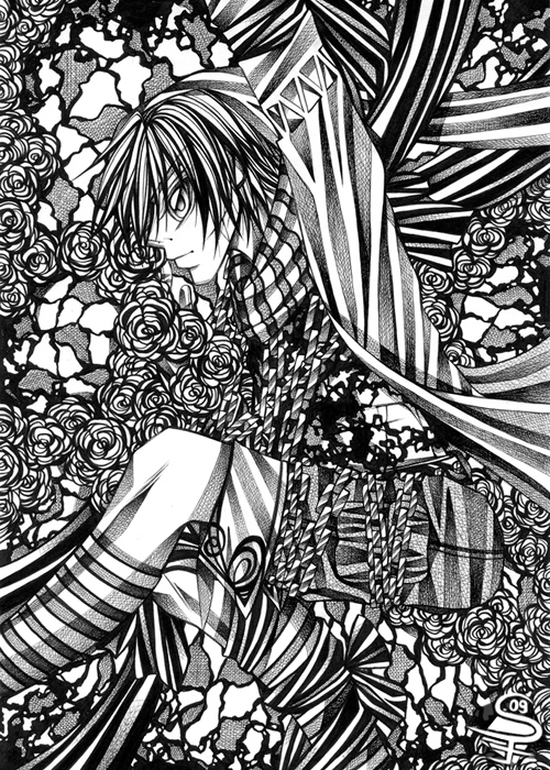 18-Captured-Sandra-Filipova-DarkSena-Manga-Black-and-White-and-Colour-Detailed-Drawings-www-designstack-co
