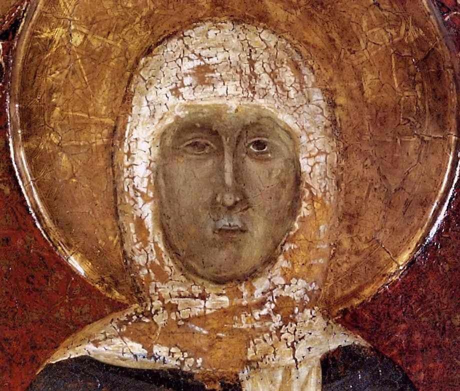 Santa Margarita de Cortona, maestro anonimo, Arezzo, detalle