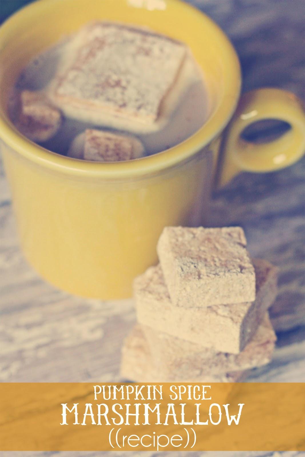 ... , sweet joy!: ((handmade monday)) homemade pumpkin spice marshmallows