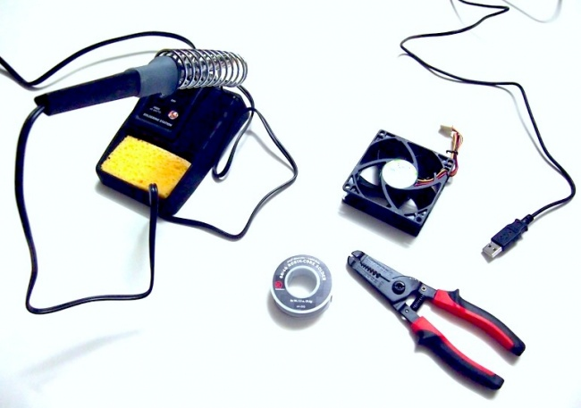 alat dan bahan membuat usb fan coolpad portable