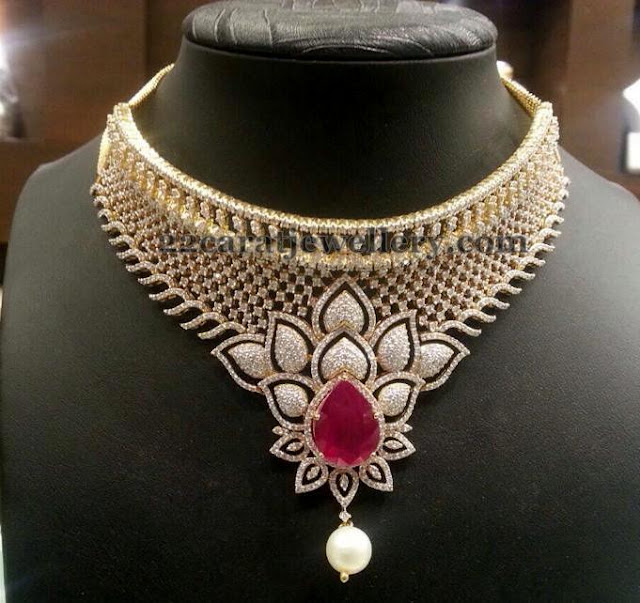 8 Lakhs Diamond Bridal Sets by PSJ