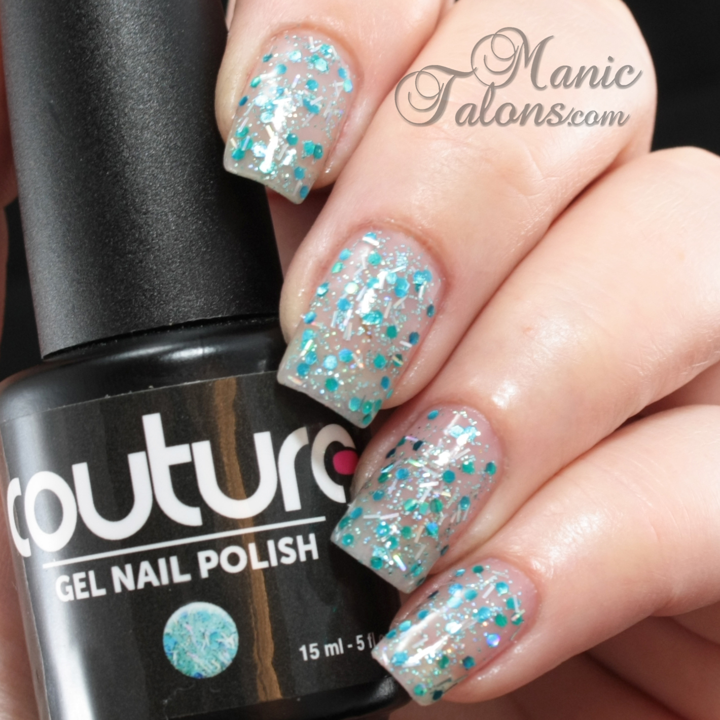 Couture Gel Polish All That Glitters Collection Drama Queen Swatch