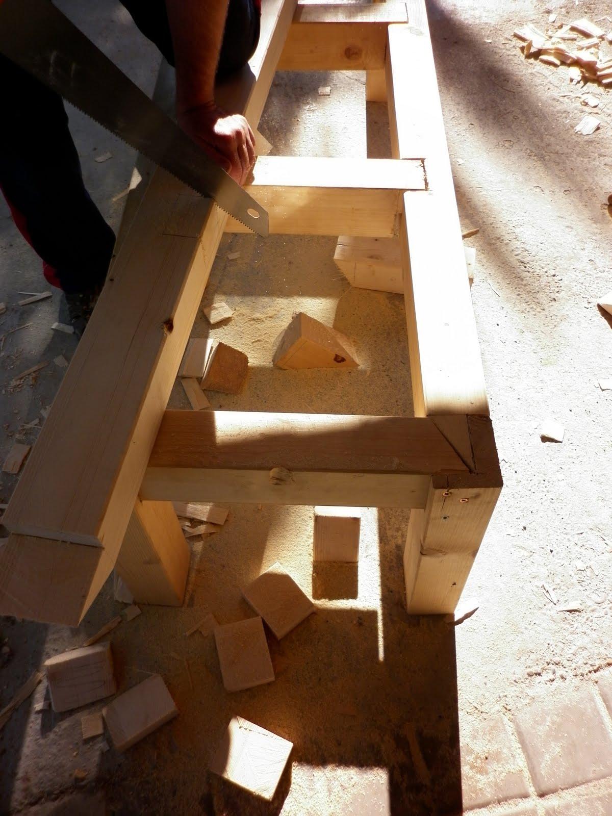 Susoleto cosas de casa como construir un banco de madera - Como hacer porche de madera ...