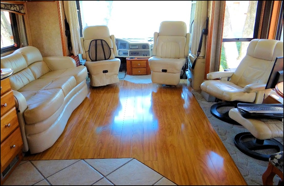 Full Time Rv Living Laminate Flooring Exposed