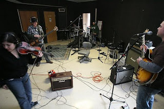 Band in the studio from Bobby Owsinski's Big Picture production blog