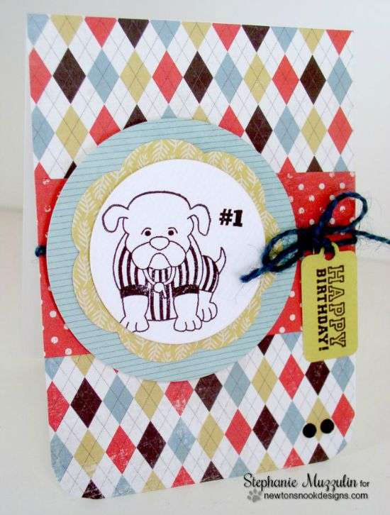 Dog referee Card by Stephanie Muzzulin | Touchdown Tails stamp set by Newton's Nook Designs #newtonsnook #football
