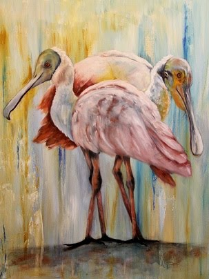 The Pink Tango-Roseate Spoonbills - SOLD!