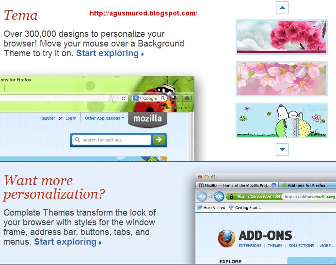 Mengganti Tampilan Firefox Menjadi Lebih Keren