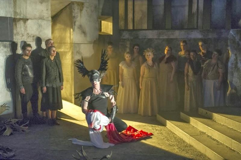 Adam Tunnicliffe, Clarissa Meek, Andrew Slater, Adrian Dwyer and chorus - ETO - © Richard Hubert Smith, www.richardhs.com