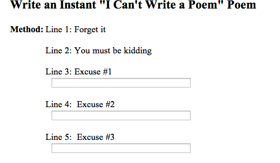 I cant write a poem poem