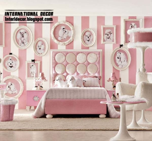 Pink Girls Bedroom Modern Design Ideas 2014