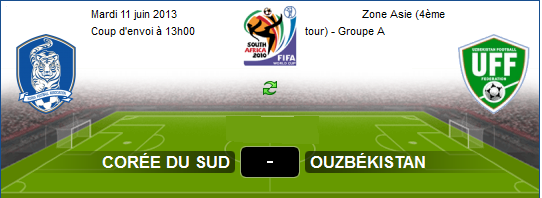 Qualification Coupe De Monde 2014 : Live Streaming Match Corée Du Sud ...