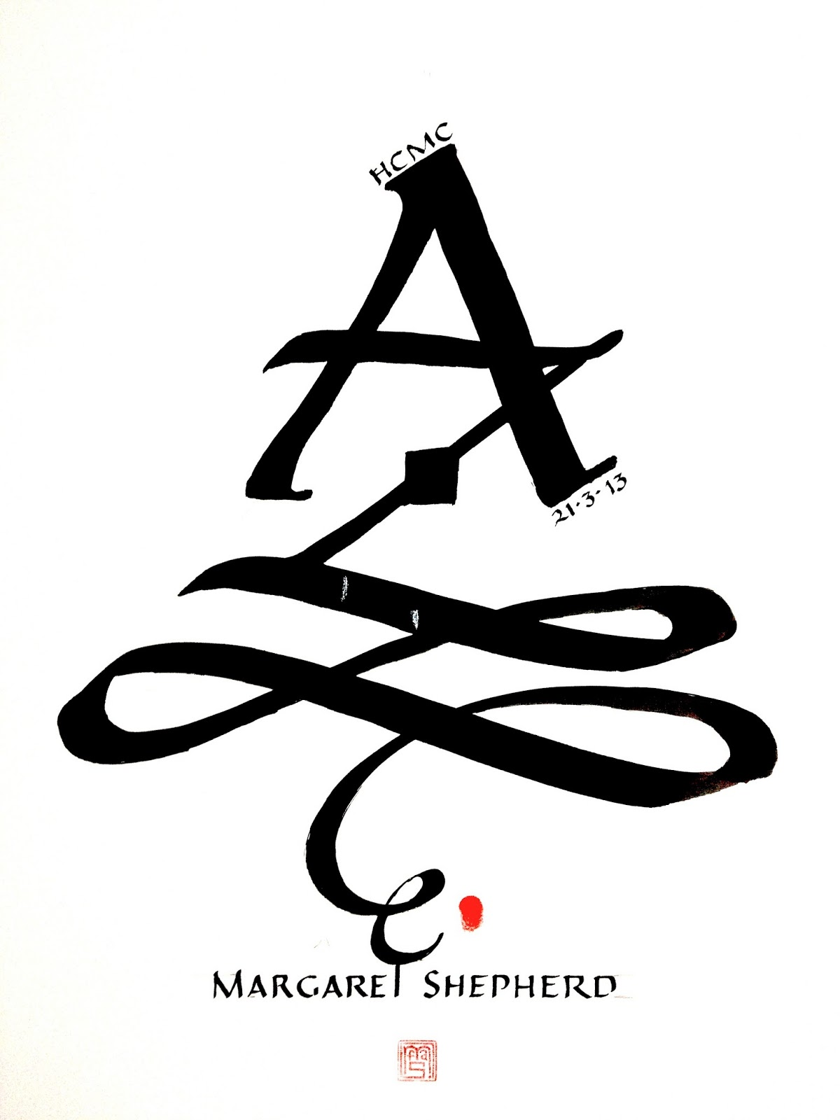 Margaret Shepherd Calligraphy Blog Alphabet Design Project
