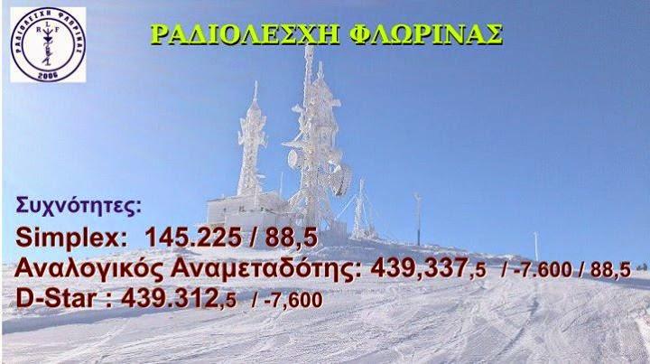 Ραδιολέσχη Φλώρινας - Συχνότητες Επικοινωνίας