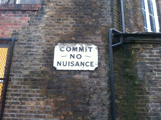Old sign in Southwark, London SE1