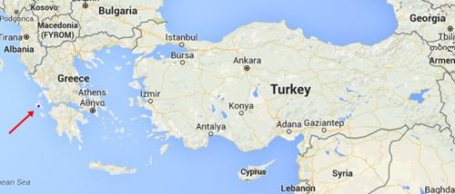 Kefalonya Adasi Harita ve Yunanistan