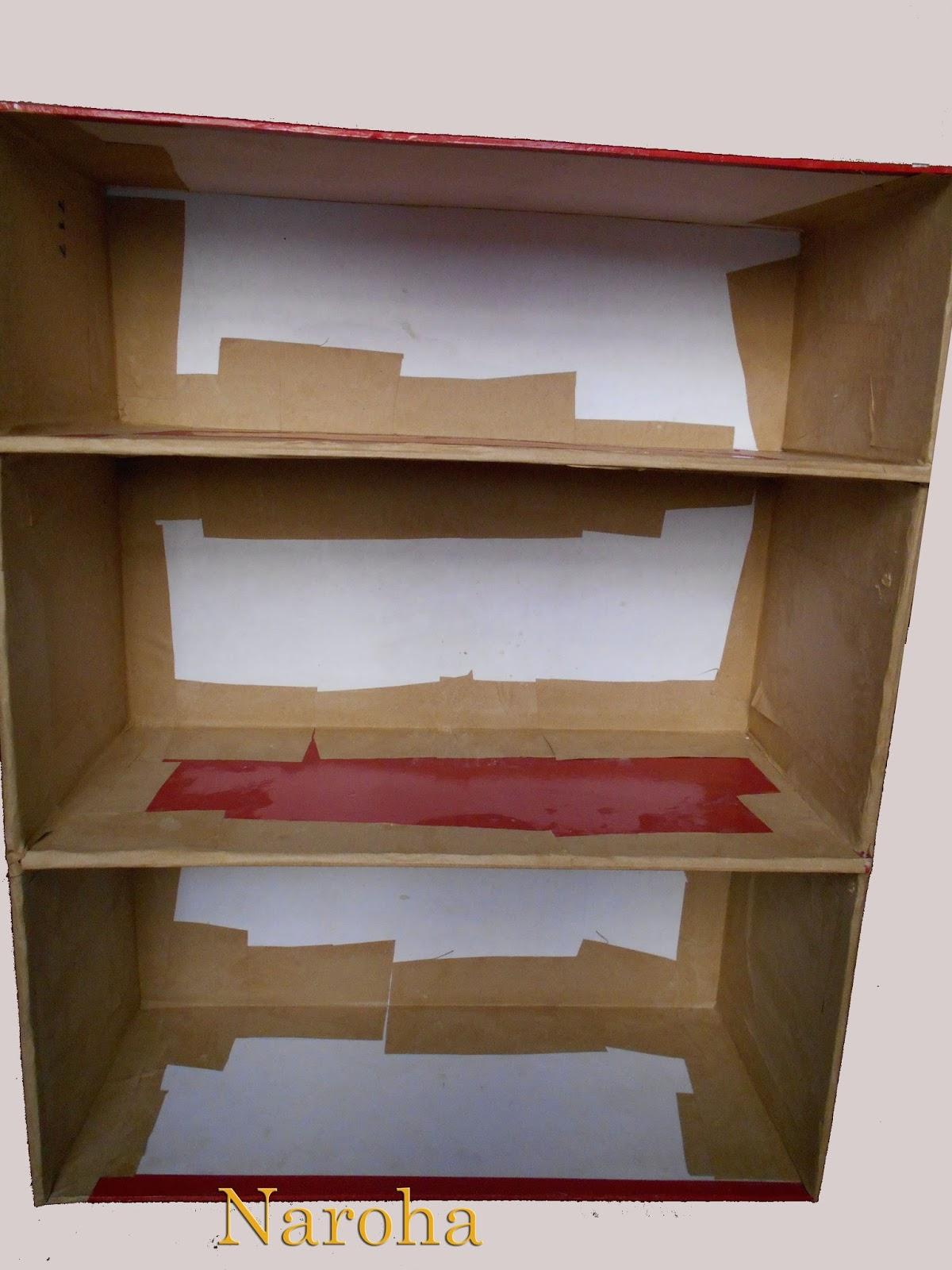 Naroha c mo hacer un mueble de cart n con cajones - Como hacer un mueble de salon ...