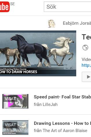 Teckna hästar videor: