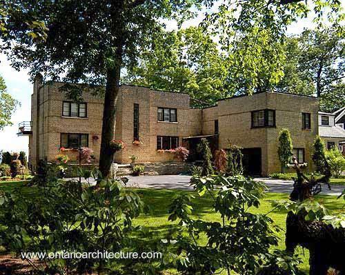 Residencia de ladrillos estilo Internacional 1939 en Ontario, Canadá