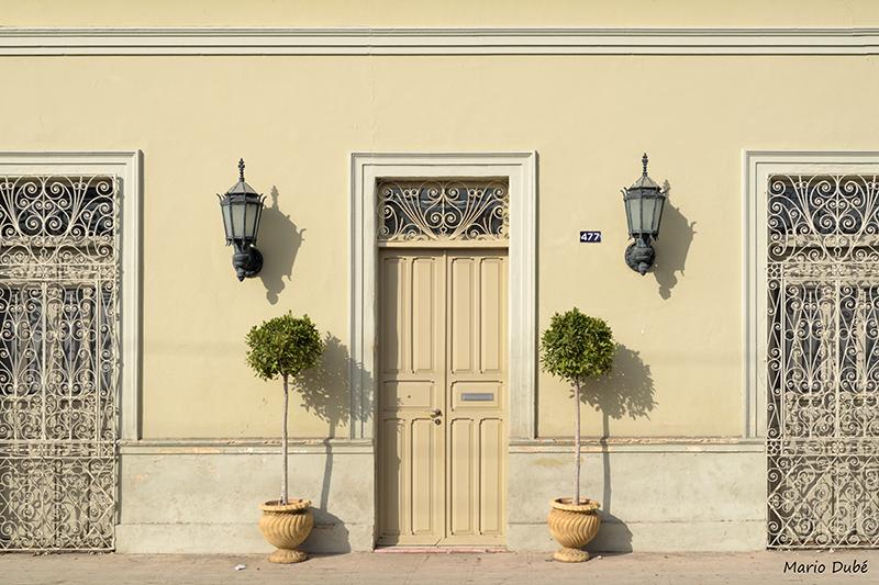 Façade colorée d'un immeuble à Mérida