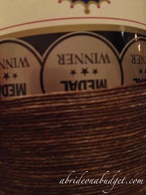 Twine-Wrapped Wine Bottle