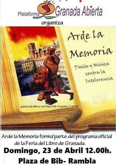 ARDE LA MEMORIA: Poesía y Música contra la Intolerancia.