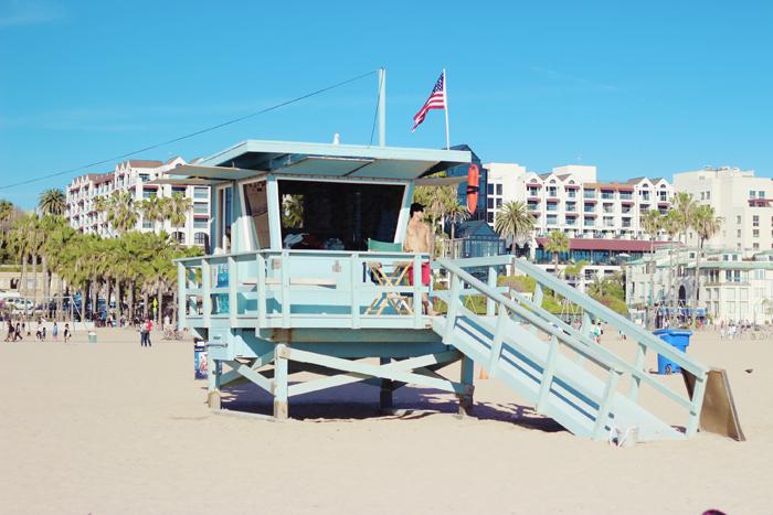 aimerose travel blog santa monica beach lifeguard