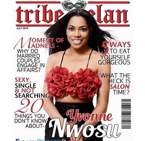 Yvonne Nwosu On The Cover Of Tribe And Elan Magazine