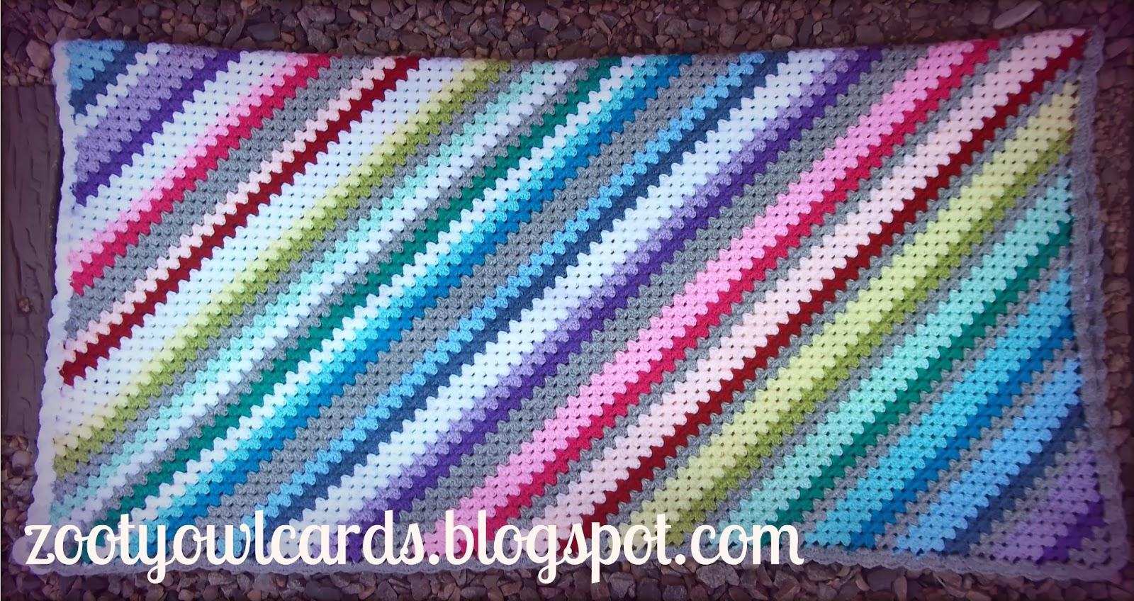 Granny Stripe Blanket Pattern Interesting Decorating Design