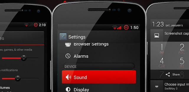 Crimson Red Theme CM10.1/AOKP v1.0.2 APK