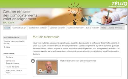 Suivre un cours en gestion des comportements (2e cycle)