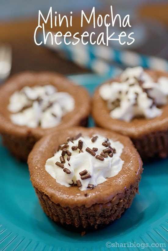 Mini Mocha Cheesecakes  from Shari Blogs