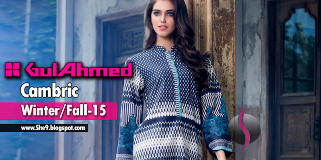 Gul Ahmed Winter Dress Collection 2015