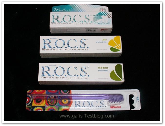 R.O.C.S. Zahncremes und Zahnbürste