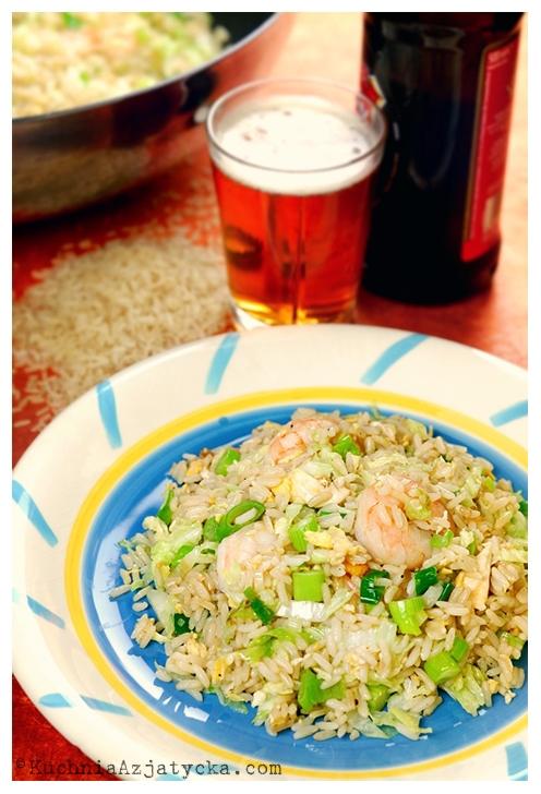 Smażony ryż z krewetkami © KuchniaAzjatycka.com