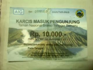 Tiket Masuk Wisata Gunung Bromo