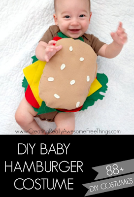 DIY Hamburger Baby Costume, shared by Creating Really Awesome Free Things