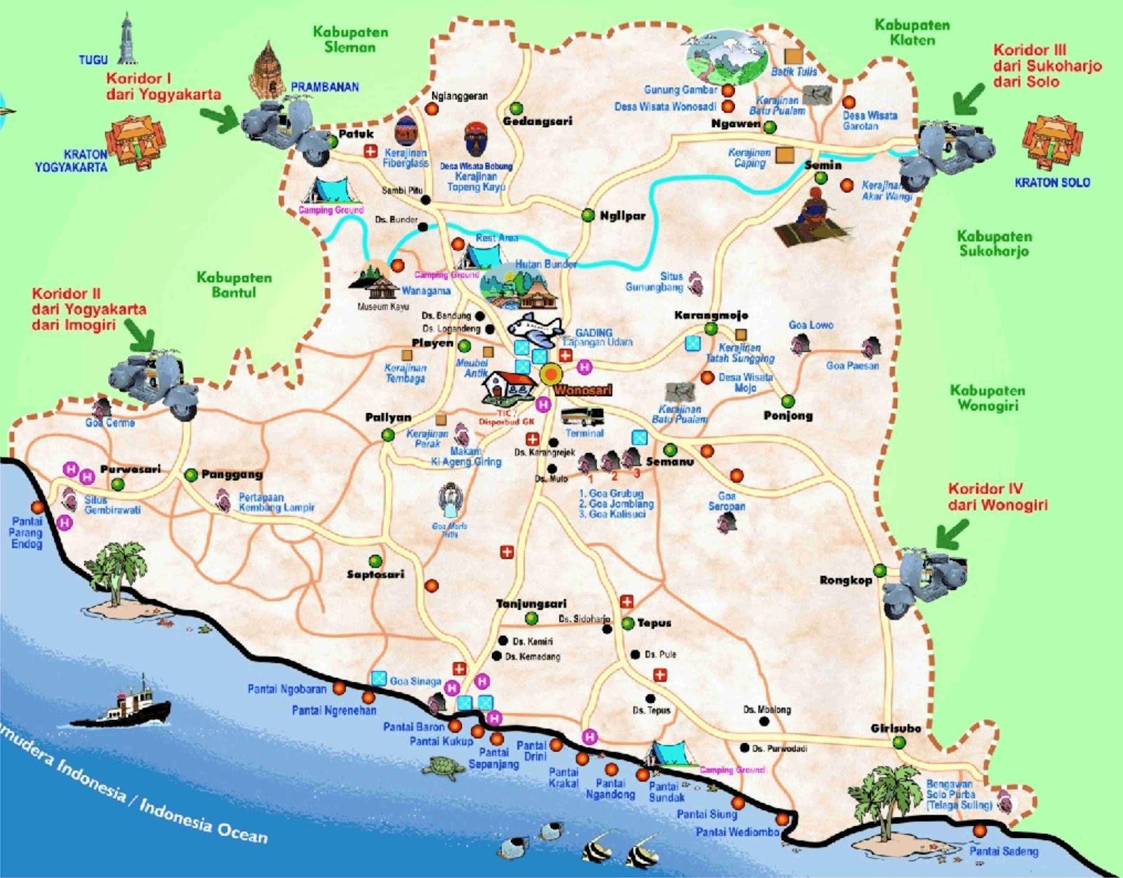 Peta Yogyakarta Google Map - Yogyakarta map