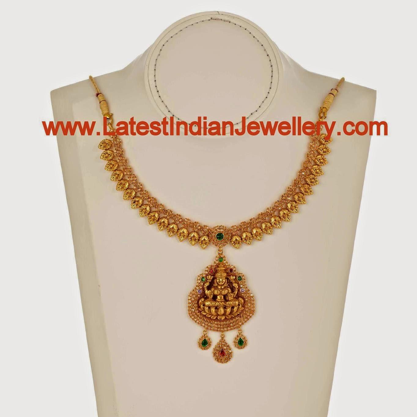 Simple Design Temple Jewellery Necklace