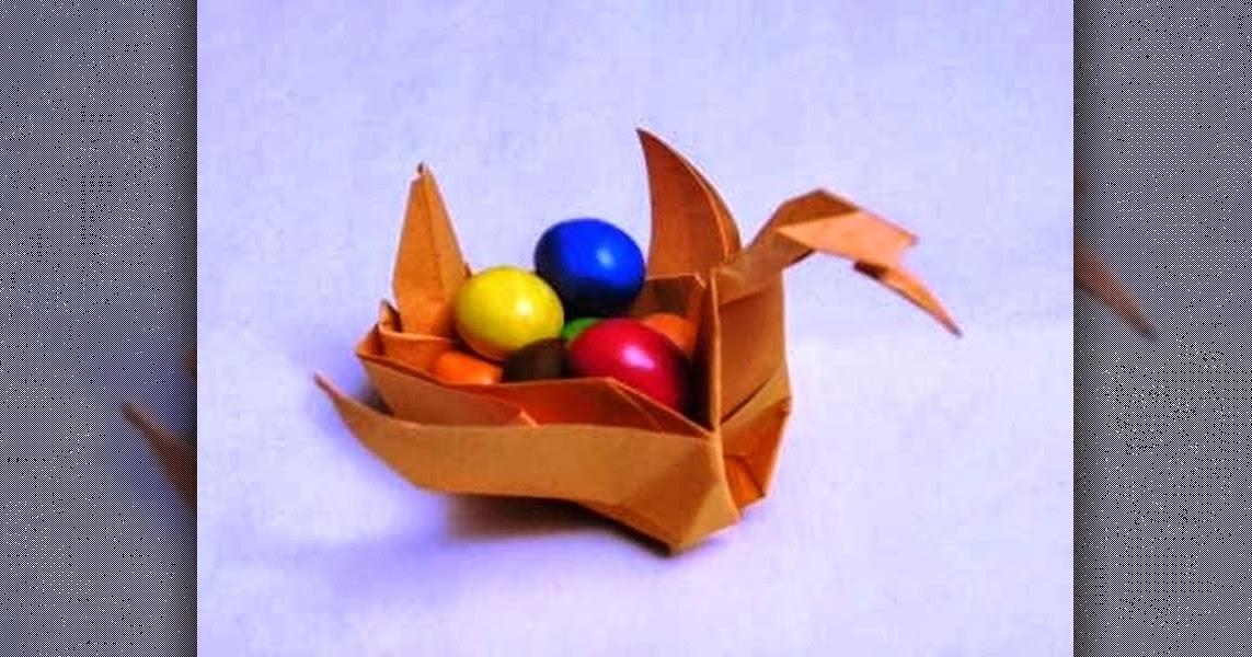 3d origami basket instructions