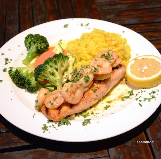 Salmon with Lemon Pesto Shrimp - RM55.90