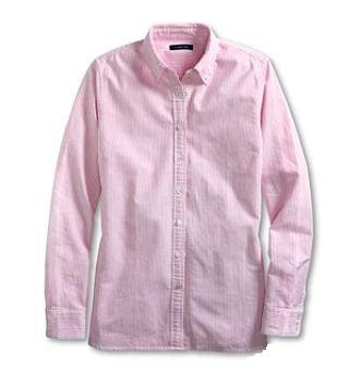Watermelon Sorbet Washed Oxford Stripe Shirt