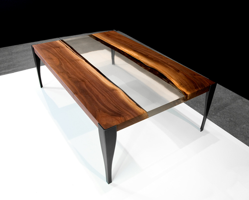 Co wood and glass tables by john houshmand