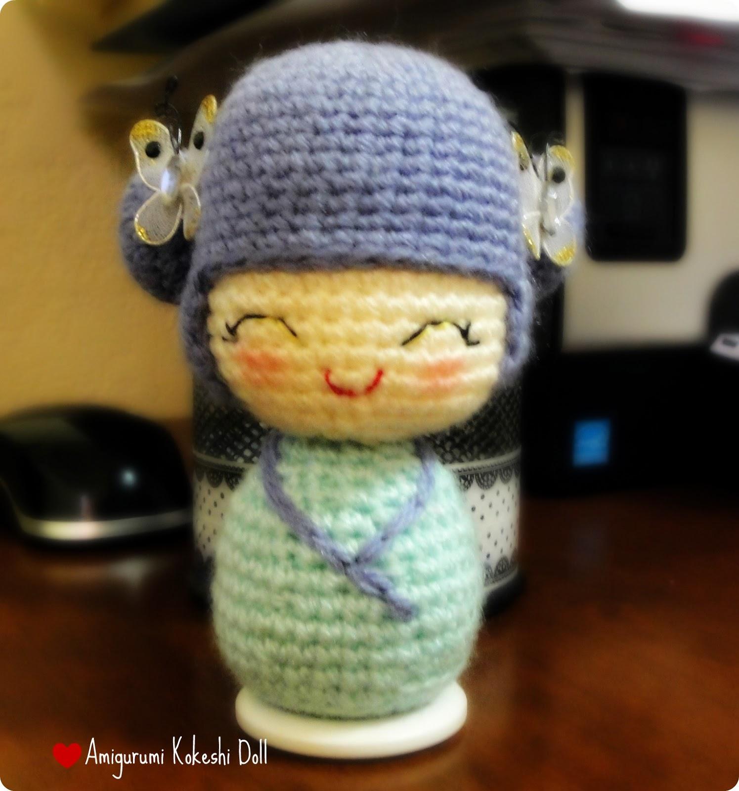 Amigurumi Kokeshi Patron : Yo y mis inventaderas :): Amigurumi Kokeshi Doll (Patron)