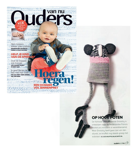 Snooshy doll Ouders van Nu magazine press