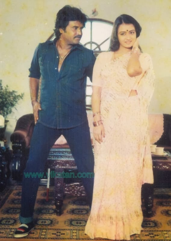 Rajinikanth & Amala in 'Velaikaran' (1987) Tamil Movie